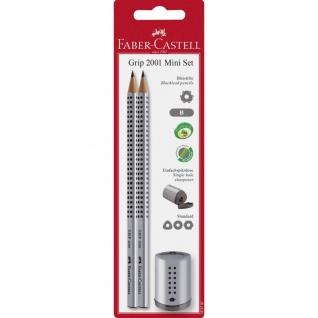 Faber Castell Blacklead Pencils Bleistift Set Grip Silber 3teilig