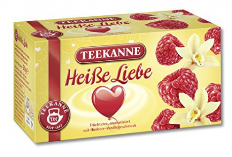 Teekanne Heiße Liebe mit feinem Himbeer und cremigem Vanillearoma 3er Pack