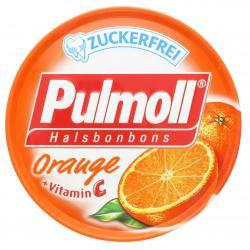 Pulmoll Hustenbonbons Orange + Vitamin C zuckerfrei, 50 g