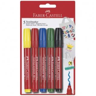 Faber Castell Textilmarker T Shirt Marker Stoffmarker in 5 Farben