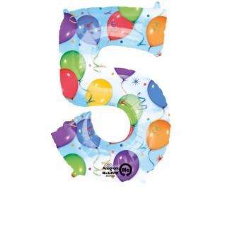 5 Ballons & Luftschlangen