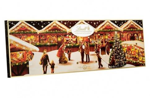 Lindt Weihnachtsmarkt Adventskalender gefüllt mit Schokolade 250g