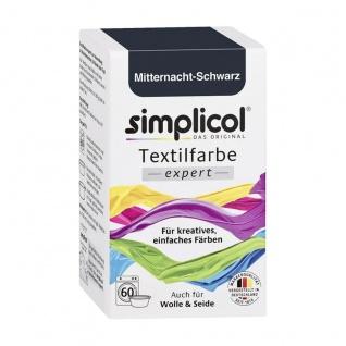 Simplicol das Original expert Textilfarbe Mitternacht Schwarz