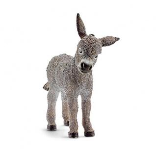 Schleich 13746 Farm Life Esel Fohlen Minifigur authentisch gestaltet