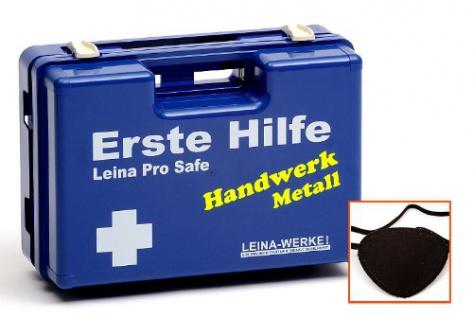 Erste Hilfe Koffer ÖNORM Z 1020 Typ 1, gefüllt, Handwerk: Metall
