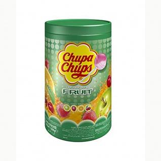 Chupa Chups Fruit Kugel Lolly Apfel Erdbeer Orange Kische Dose 1200g