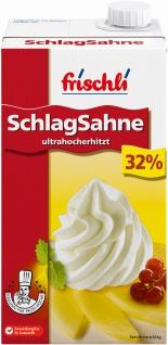 Frischli H-Schlagsahne 32% perfektes Aufschlagvolumen mit Geschmack 1000g