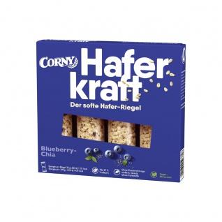 Corny Haferkraft Blueberry Chia einzelne Hafer Heidelbeer Riegel 140g