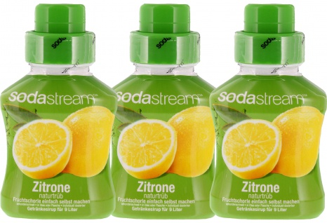SodaStream Konzentrat Zitrone naturtrüb Getränkesirup 375ml 3er Pack