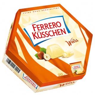 Ferrero Küsschen weiß Geschenkpackung mit 20 verpackten Pralinen 178g