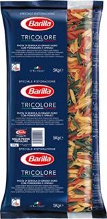 Barilla Mezze Penne Tricolore n. 78, 1er Pack (1 x 5 kg)