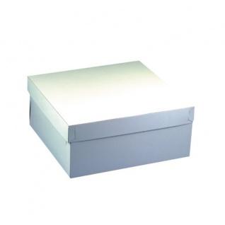 Tortenkartons mit Deckel aus Pappe eckig weiß von Papstar 10 Stück