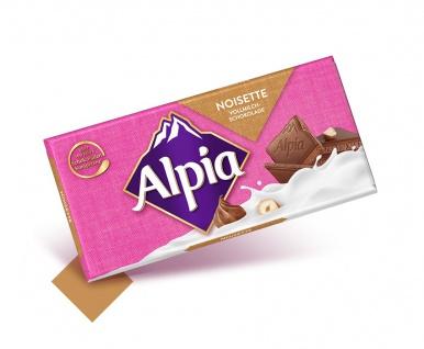 Alpia Schokolade Noisette Alpenmilchschokolade mit gemahlenen Haselnüssen 100g