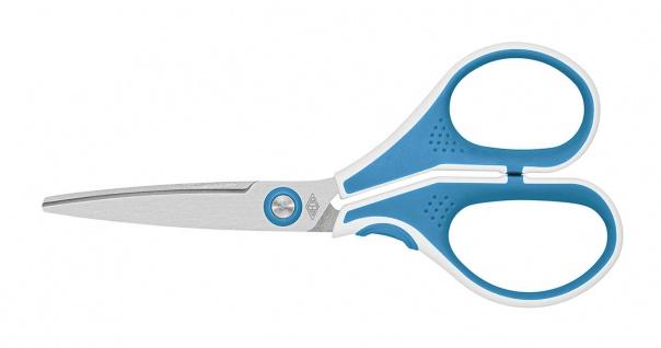 WEDO Edelstahlschere Cut It ergonomische Griffe Hellblau Weiss 13cm