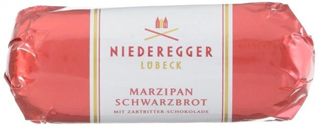 Niederegger Marzipan Schwarzbrot Überzug aus Zartbitterschokolade 48g