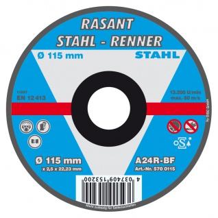 Rasant Stahl Renner Trennscheibe 115mm für Heim und Handwerker Inhalt 5 Stück