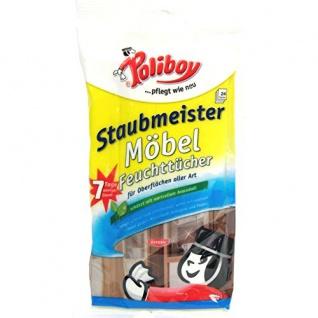 Poliboy Staubmeister Möbel Feuchttücher, 24 Stück