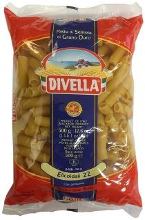 Divella Elicoidali Nr 22 Nudeln aus Hartweizengriess 500g 24er Pack