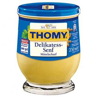 Thomy Delikatess-Senf, mittelscharf, 250 ml Glas
