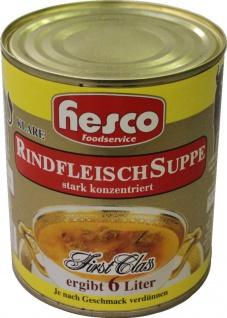 Hesco Rindfleischsuppe 12-fach konz.