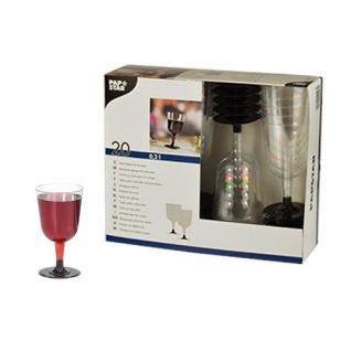 Einweg Rotweingläser Stiel Gläser klar 200 ml von Papstar 20 Stück