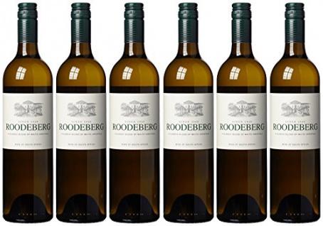 KWV Roodeberg White Western Cape trocken Weißwein aus Süafrika 750ml 6er Pack