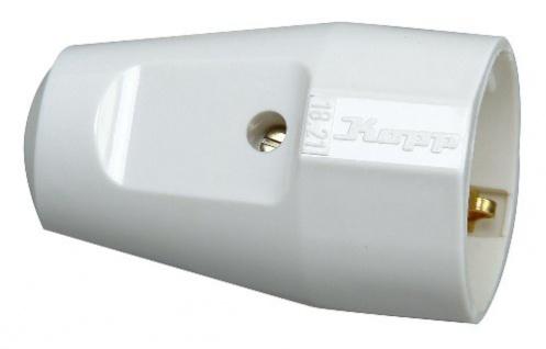 Kopp 182102006 Kunststoff-Schutzkontakt-Schalenkupplung, arktis