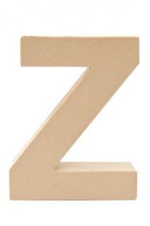 """Pappmache Buchstabe """" Z"""" stehend zum basteln kreativ Rico Design Idee"""
