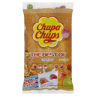 Chupa Chups Original The Best Of Lutscher 120er Nachfüllbeutel 1400g