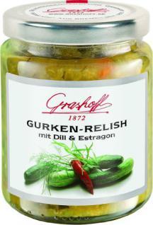 Grashoff Gurkenrelish, mit Kräutern und Gewürzen, 200 ml, 3er Pack (3 x 200 ml)