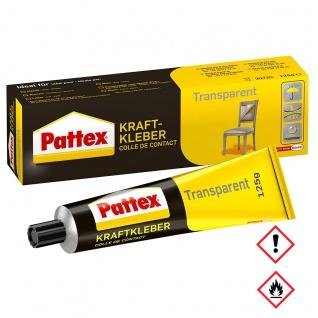 Pattex Kraftkleber Transparent hinterlässt keine Spuren 125g