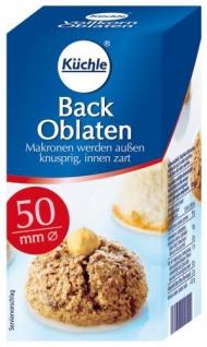 Küchle Back Oblaten Durchmesser 50mm Kreisform 100 Stück 37g 14er Pack
