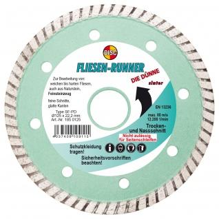 Disc Diamant Trennscheibe SF PD Fliesen Runner Die Dünne 125x22.2mm