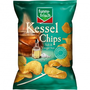 funny frisch Kessel Chips Salt & Vinegar glutenfrei vegan 120g