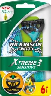 Wilkinson Sword Xtreme 3 Sensitive 3 Klingen-Komfort-Rasierer