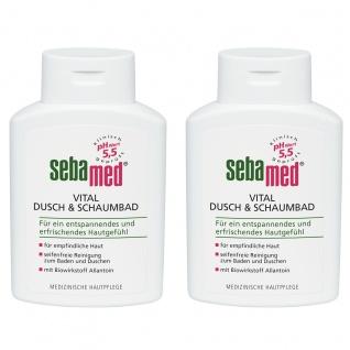Sebamed Vital Dusch und Schaumbad für empfindliche Haut 200ml 2er Pack