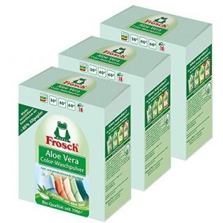 Frosch Aloe Vera Color-Waschpulver 3er Pack - 1, 35 kg - Sensitiv mit Aloe Vera