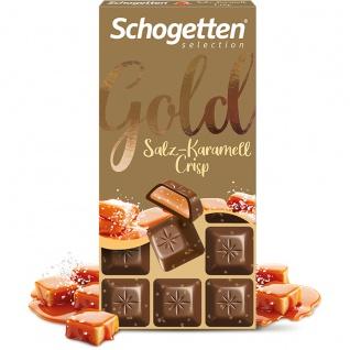 Schogetten Selection Gold Stück für Stück Salz Karamell Crisp 100g