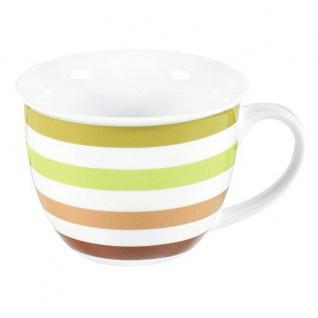 Jumbo-Obere Nature Stripes Tasse mit angenehm frischen Farben 350ml
