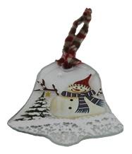 Christbaumanhänger weihnachtliches Fensterbild Schneemann Glocke