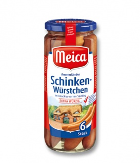 Meica Schinken Würstchen im zarten Saitling extra würzig 6 Stück