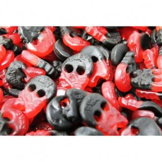 Totenkopf Mini Fruchtgummi mit Himbeer und Lakritzgeschmack 1000g