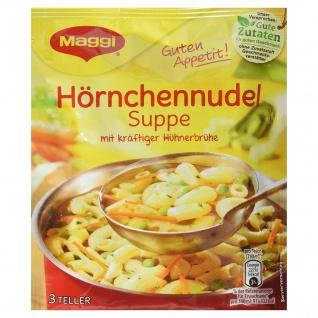 Maggi Guten Appetit, Hörnchennudel Suppe, 50 g Beutel, ergibt 3 Teller