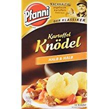 Pfanni Der Klassiker Kartoffel Knödel Halb und Halb 12 Knödel 400 g