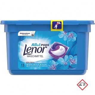 Lenor All in One Pods Aprilfrisch Vollwaschmittel 13 Waschladungen
