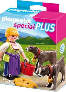 PLAYMOBIL 4778 - Bäuerin mit Kälbchen