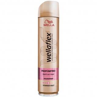 Wellaflex Haarspray Parfümfrei starker Halt Sanft zur Haut 250ml 6er Pack