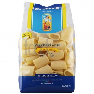 De Cecco Paccheri Nr 125 Nudeln aus Hartweizengriess ohne Ei 500g