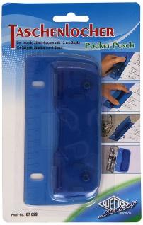 WEDO Taschenlocher aus Kunststoff mit Metallstanzen 8cm sortiert