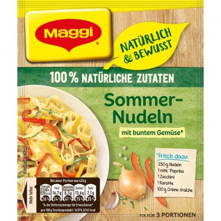 Maggi Fix Natürlich und Bewusst Sommernudeln mit buntem Gemüse 38g